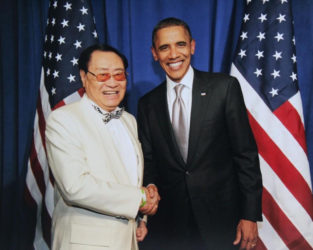 主席團代表蔣一成主席拜會美國奧巴馬總統