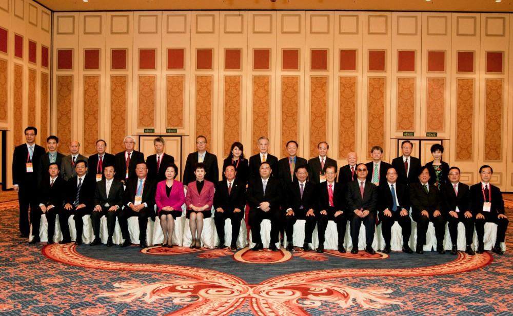 第九屆世界華商高峰會主席團合影