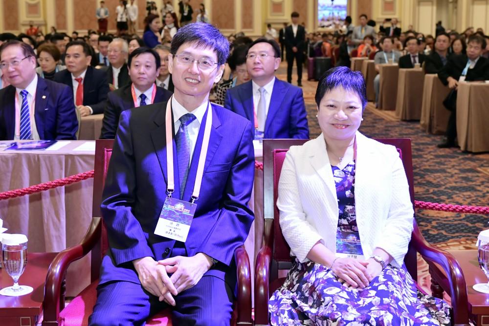 開幕典禮:中聯辦台灣事務部徐莽部長與澳門特別行政區經濟局副局長陳子慧女士。