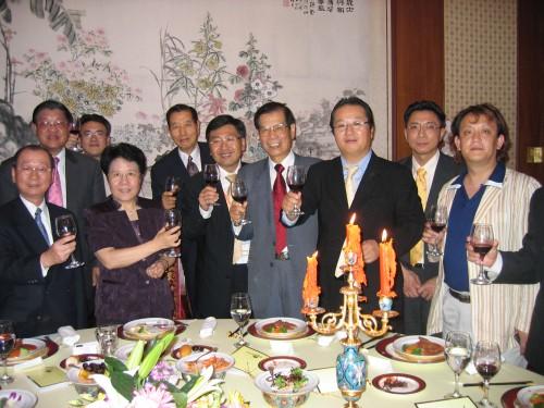國務院僑務辦公室陳玉杰主任歡宴聯盟訪問團