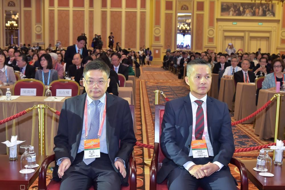 中聯辦經濟部部長劉斌先生與澳門特別行政區政府經濟局局長戴建業先生