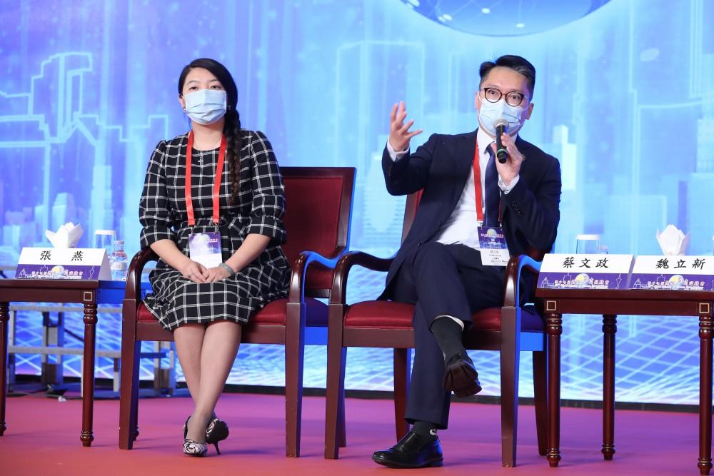 深圳百川艾科技有限公司總經理張燕女士與澳門青年聯合會理事長蔡文政先生